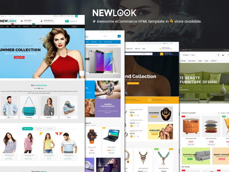 NewLook - Responsive Multipurpose E-Commerce HTML Template