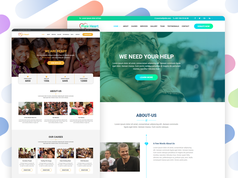 PureHeart - Charity & nonprofit NGO HTML Template