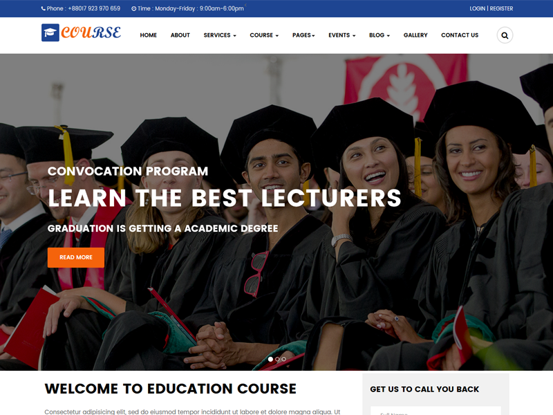 Course - Education Responsive Template
