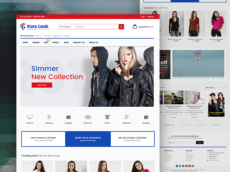 Koras Look - Multipurpose Responsive Ecommerce HTML Template