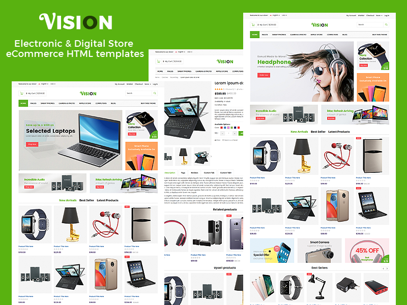 Vision - Electronic & Digital Store eCommerce HTML templates