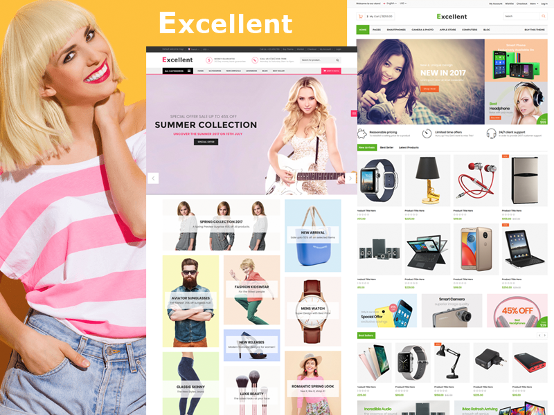 Excellent - Multi-Purpose eCommerce Shop HTML Template