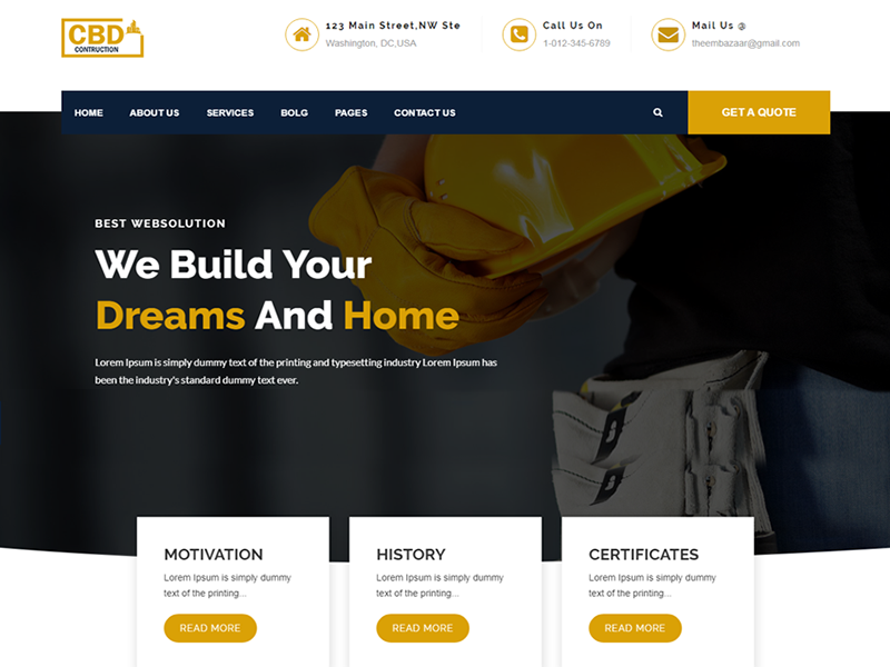 Construct - Construction & Business HTML5 Template