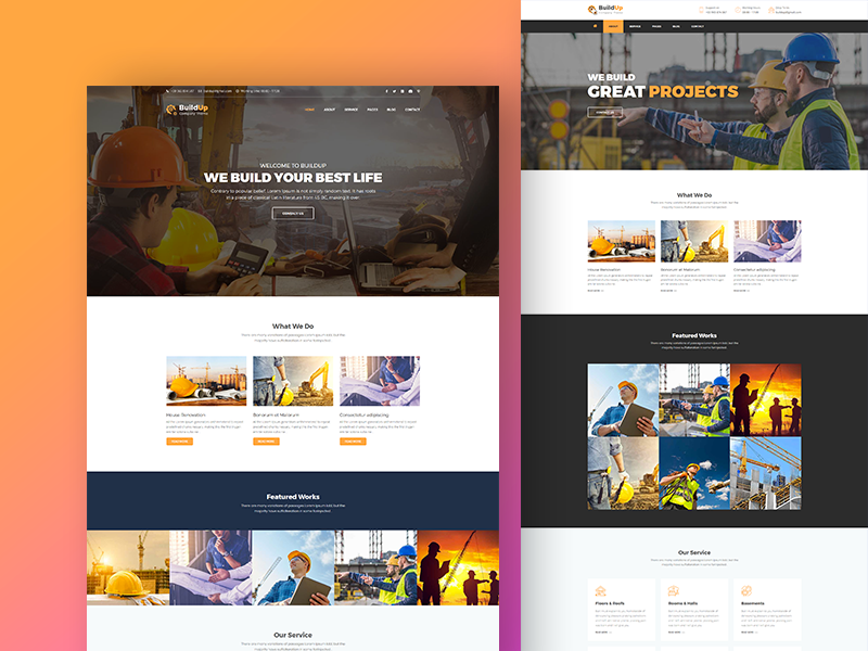 Buildup - Construction and Building Company HTML Template