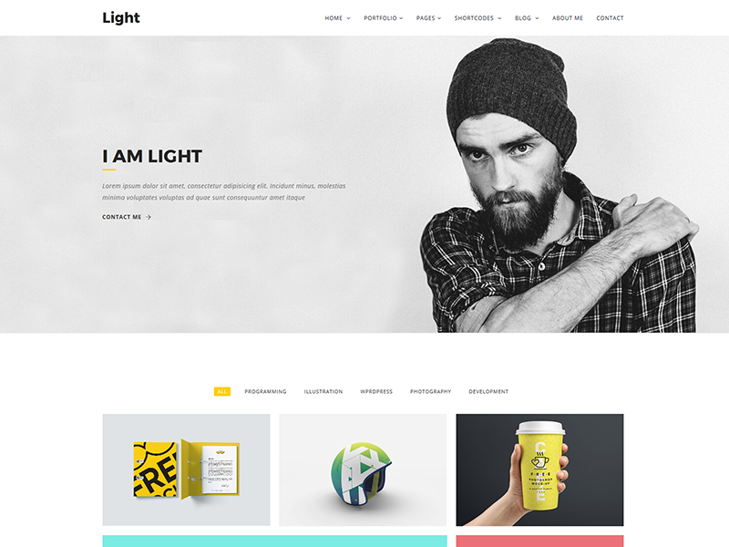 Light Minimal Portfolio Template