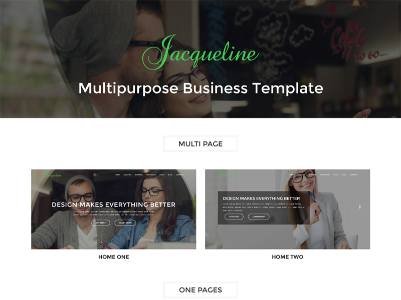 Jacqueline - Multipage Business Template
