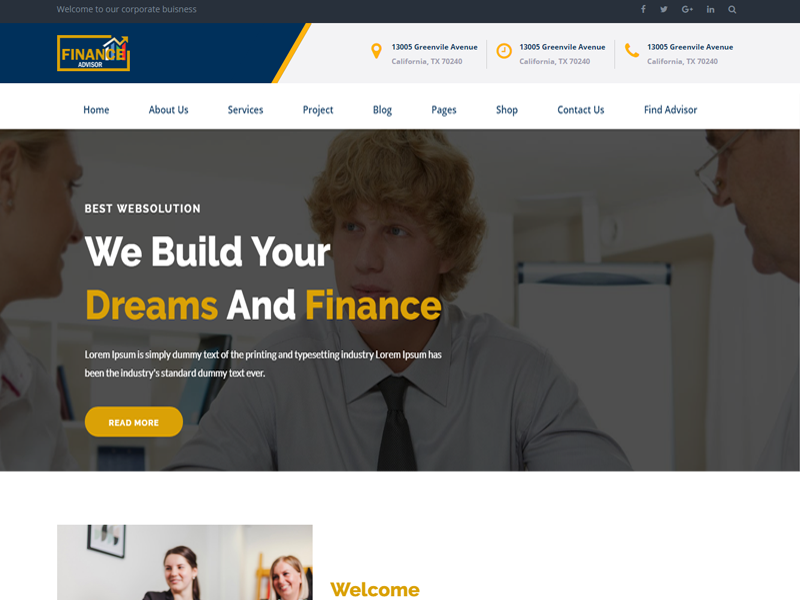 Finance - Finance, Corporate and Business HTML Template
