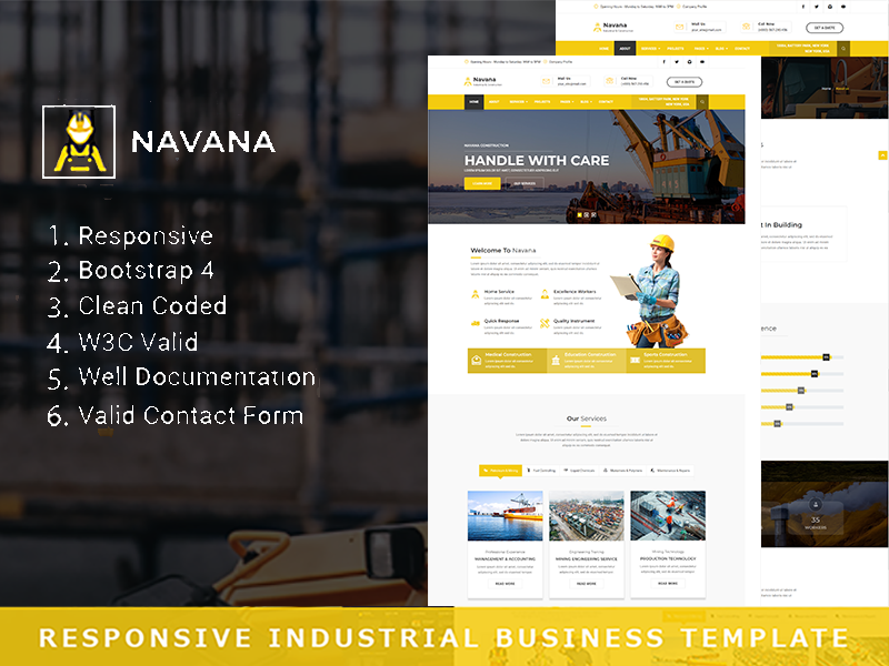 Navana - Responsive Industrial Business Html Template