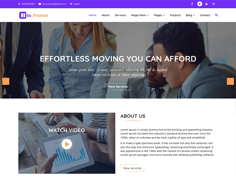 Bsufinance - Corporate Agency HTML5 Template