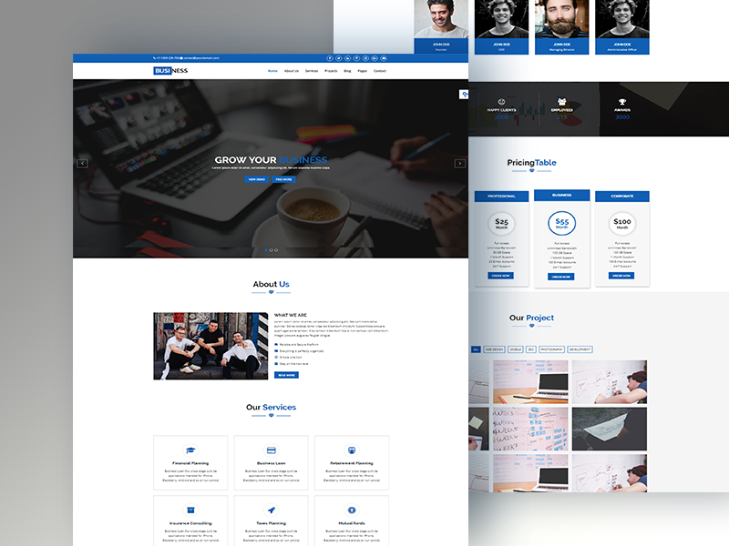 S-Biz: Corporate Business Template