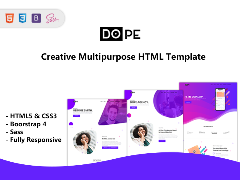 Dope - Multipurpose Bootstrap4 Template