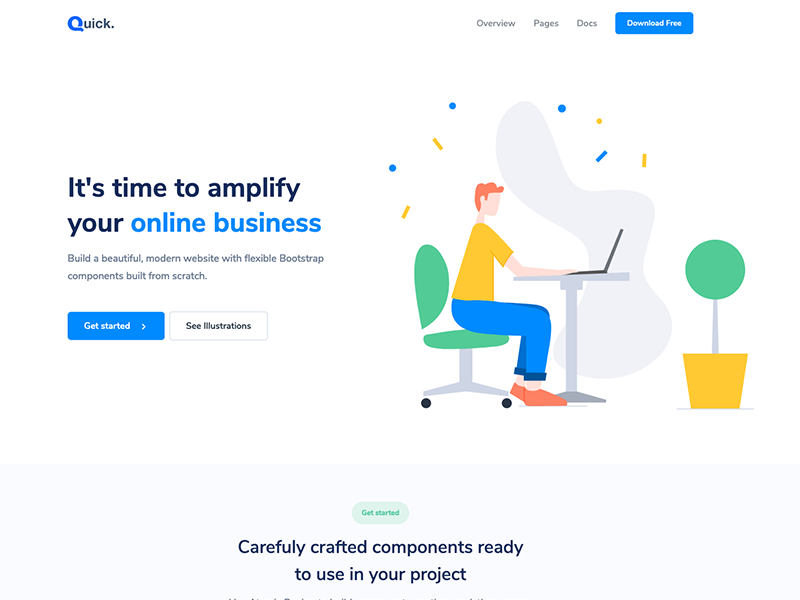 Quick - Free Bootstrap 4 Theme